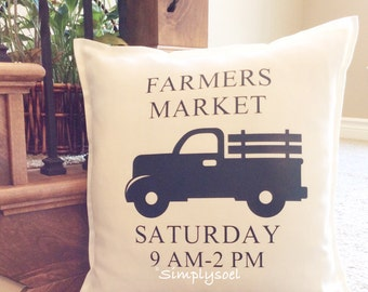 Farmers market 20x20 pillow cover