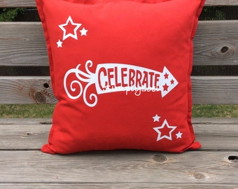 Celebrate 4th of July 20x20 pillow cover