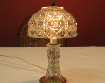 Vintage Lead Crystal lamp for night stand or Powder Room, Great gift for anyone. Wedding table decor