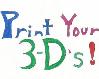 Custom Made-To-Order 3-D Printed Figures!!! - Medium