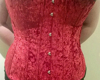 Bespoke Made to Measure Crushed Velvet Corset