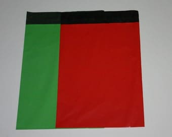 20 9x12 Poly Mailers Red And Green Self Sealing Envelopes Christmas