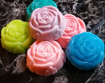 rose soap, rose shaped soap, flower soap