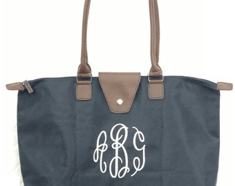 Champ Style Bag with Embroidered Monogram