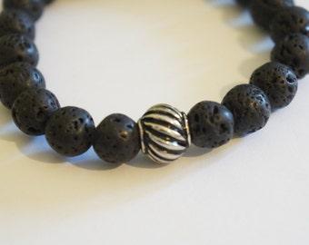 Lava Bead Bracelet, Volcanic Jewellery, Lava beads, Healing Bracelet, Wellbeing jewellery, Real Volcanic Lava Bracelet READY TO POST
