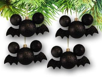 Set of (4) Mickey Shaped Halloween Ornaments-Mickey Bat (Disney)
