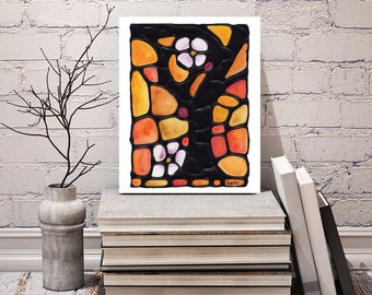 Silhouette Tree Print - Bedroom Art Print - For Your Wall - Poster Artwork - Autumn Tree Art - 8 x 10 inch - Signed by Artist Kathy Lycka