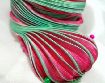30 cm Silk Shibori Ribbon Handmade