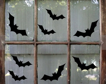 15/ Bat Halloween Decal / Halloween Sticker / Halloween Window Decal / Bat Decal / Halloween Decoration/ Halloween window stickers/ Hallowee