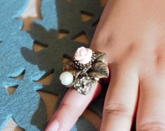 Flower Charm Ring