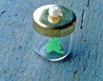 Leprechaun Lucky Shamrock in a jar for St. Patrick's Day