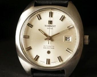 Men's vintage Tissot Seastar Automatic watch Swiss watch 1970's watch Retro men's watch Dress watch Gift for him