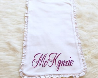 Personalized Burp Cloth Monogrammed or Name Burp Cloth