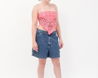 Lee Riveted High Waist Blue Jean Shorts // Vintage, 1990s, Lee, Denim, Large