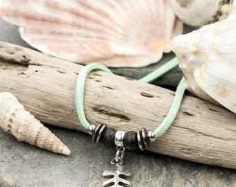 Fishbone Pendant Necklace