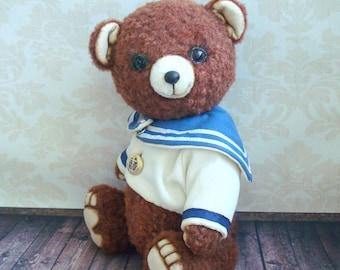 Artist teddy bear. OOAK, 11.0 inches. Bear Sailor, teddy bear, broun bear, big bear, bear seamen, toy bear