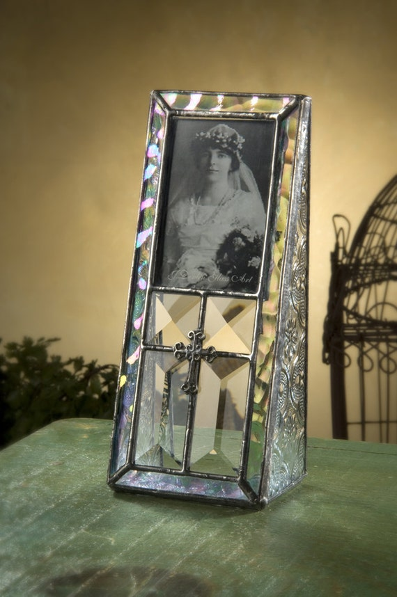 Baptism Gift Glass Picture Frame Stained Glass Photo Frame