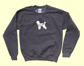 """Poodle """"MAMA"""", Crewneck Sweatshirt"""