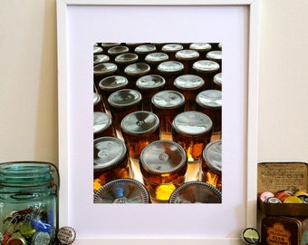 Beer Bottles Print- Portrait