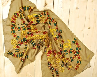 Vintage CHANEL Silk Scarf / Made in Italy / Retro Collectable Rare