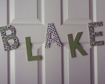 Personalized English Wooden Letters - Patterns