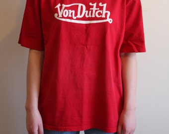 Retro Von Dutch Red T-Shirt