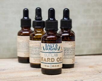 Outlaw Beard Oil, Beard Care, Skin Care, For Men, Beard Oil, Beard Conditioner, Beard Softener, Mustache Care, Facial Hair Care