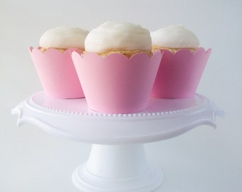 Set of 12 – Pink Cupcake Wrappers – Standard Sized - Ready To Ship