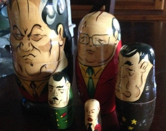 Russian Nesting Dolls-Political Leaders-Matryoshka Dolls