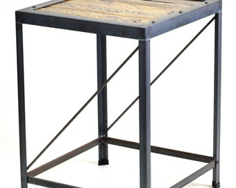 Industrial End/Side Table
