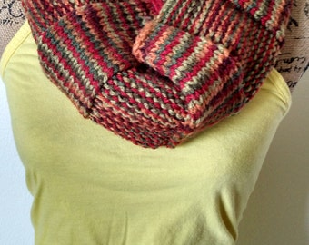 Wide Knit Ribbed Cowl