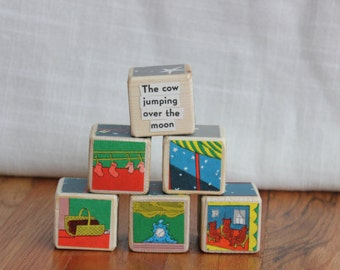 6 Goodnight Moon Wooden Blocks
