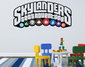 Personalized Skylanders Vinyl Wall Decal Mural Sticker for Bedroom or Playroomvvvv