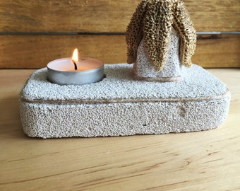 Natural Home Decor/ Starfish Candle Holder / Unique Tea Light Candle Holder/ Natural Pumice Stone Gift/ Starfish Decor/ Beach Candle Holder