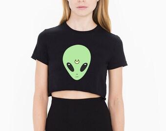 Sailor Alien crop croptop cropped t-shirt