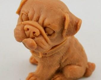 3-D Soap Bull Dog Soap, Gift for him, Vegetable Glycerin Soap Decorative Bathroom Guest Soap