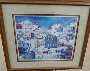 """Linda Nelson Stocks """"Chimney Sweeps"""" signed and numbered print #913/1500"""