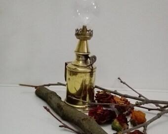 Oil lamp, French vintage, shabby chic, brass lighting, table lamp, brass lamp, antique french, vintage lamp, lantern, lamp, light, brass.