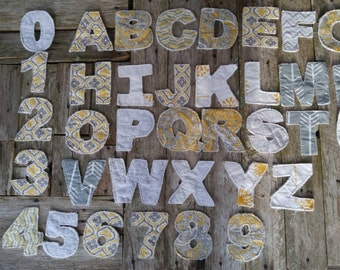 Uppercase Letter Set with Numbers