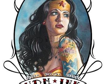 Modern Day Wonder Woman - by Wesley Dallas Merritt