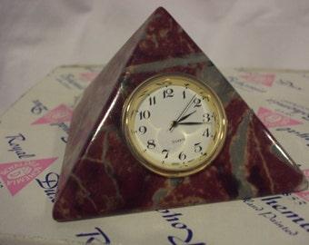 Royal Dux Pyramid Clock~S.A.L.E.~ by Royal Dux Bohemia~Hand Painted Pyramid Clock~Czech Republic Fine Porcelain