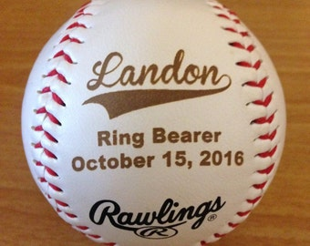 Ring Bearer Baseball, Personalized  Baseball, Personalized Coach Gift, T-Ball, Tee Ball, Little league, Team Balls, League Balls