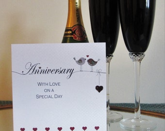 Anniversary Card - Love Birds Design LL55
