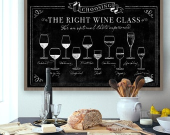 Affordable Large Wall Art - Wine Glasses - Chic and Cheap! - Commercial or Personal use