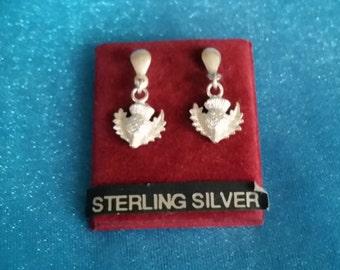 Thistle Sterling Silver Earrings