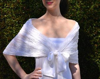 White bridal shawl, lace bridal shawl, bridal shawl