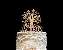Wooden tree Cake Topper Rustic Wedding Cake Topper Custom Cake Topper