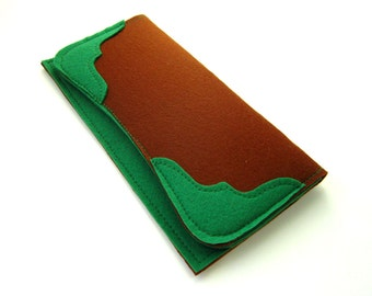 Wallet sewing pattern, wallet pattern, pdf wallet pattern, wallet tutorial, PDF pattern and instruction, instant download, felt wallet