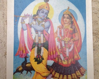 """Indian Religious Art Prints: Set of 10. 5""""x7"""".  S.S. Brijbasi and Sons."""