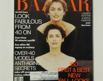 Vintage Harper's Bazaar Magazine August Aug 1991 Fashion